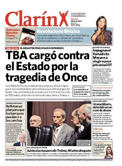 TBA cargó contra el Estado por la tragedia de Once. Más información: http://www.clarin.com/edicion-impresa/