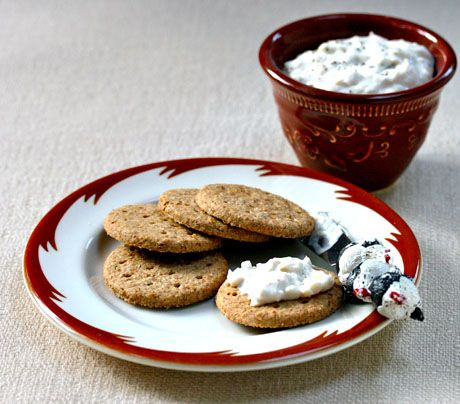 White bean dip with goat cheese and herbes de Provence makes a fine ...