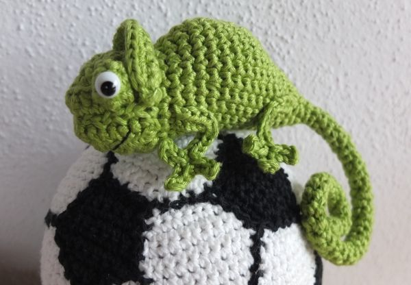 Crochet Chameleon, Geh?keltes Cham?leon, h?keln Anleitung / Pattern ...