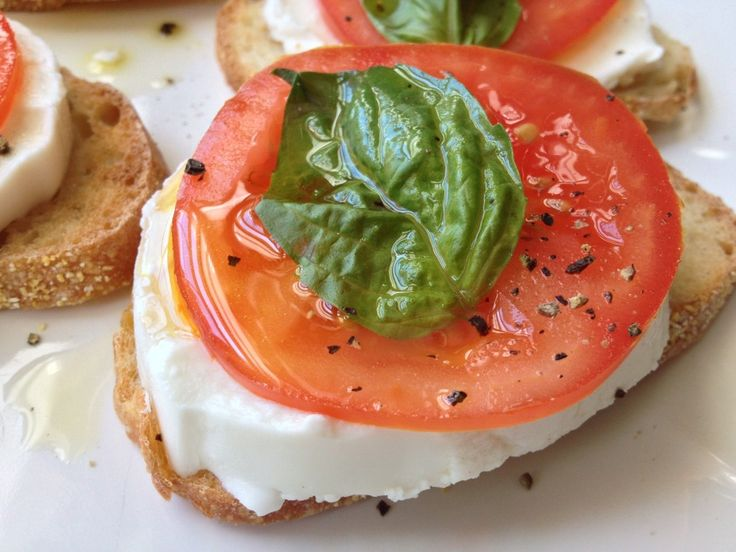 Roasted Tomato And Fresh Mozzarella Bruschetta Recipes — Dishmaps