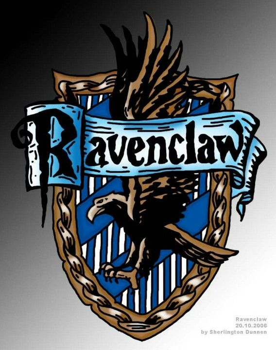 Ravenclaw House Crest - hand drawnRavenclaw House Crest