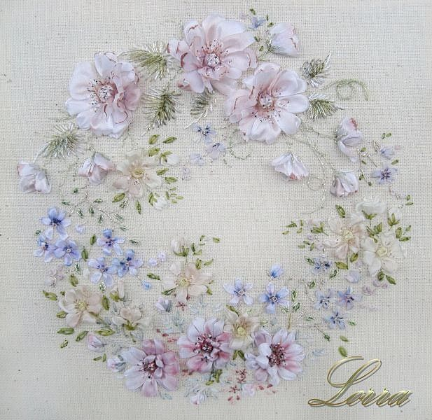 Вышивка лентами - Lorra58