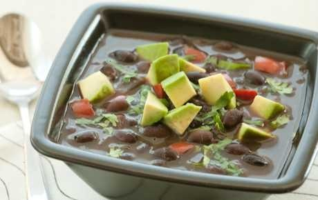 SIMPLE BLACK BEAN SOUP | food | Pinterest
