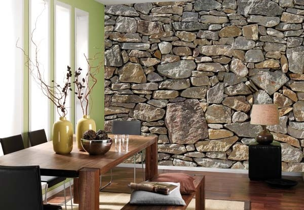 Stone Wall Mural Stone Wall Mural Bedrooms Pinterest