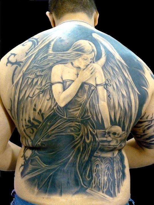 Female Dark Angel Tatt...