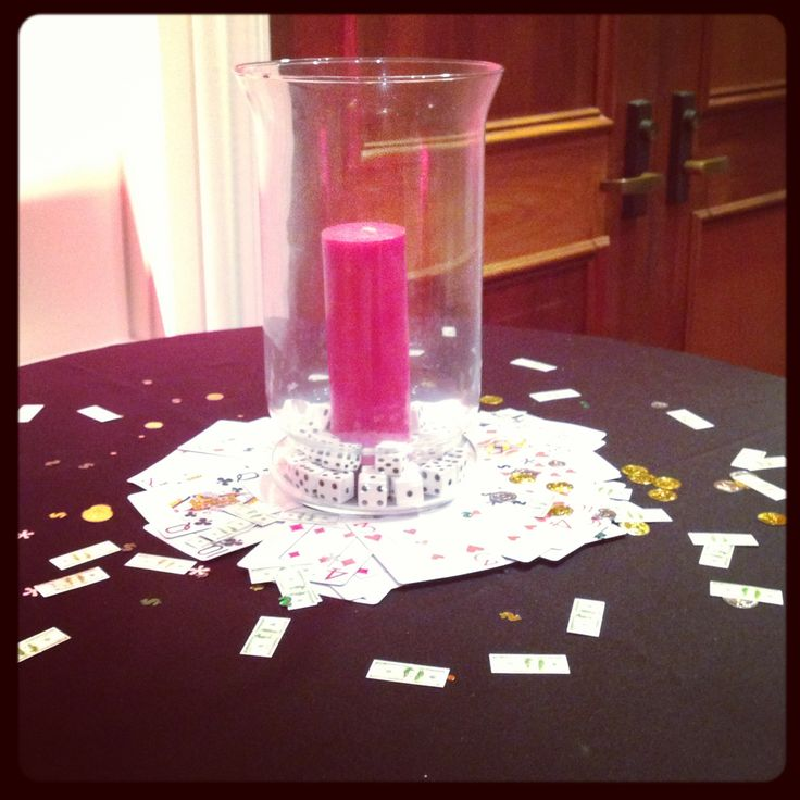 Cocktail table decorations casino theme pinterest for Cocktail table ideas