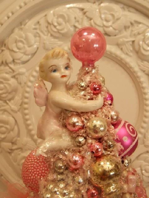 Royal Albert Cup Saucer Vintage Ornaments Pink Bottle Brush Tree Roses Pixie   eBay