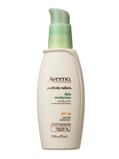 Aveeno Positively Radiant Daily Moisturizer SPF 30—the perfect facial moisturizer for normal skin.