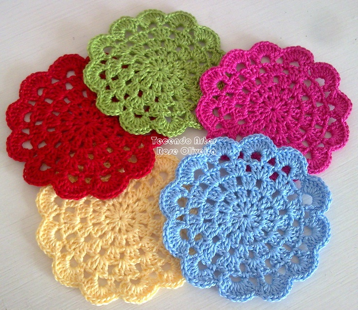 coasters crochet circle Crochet Pinterest