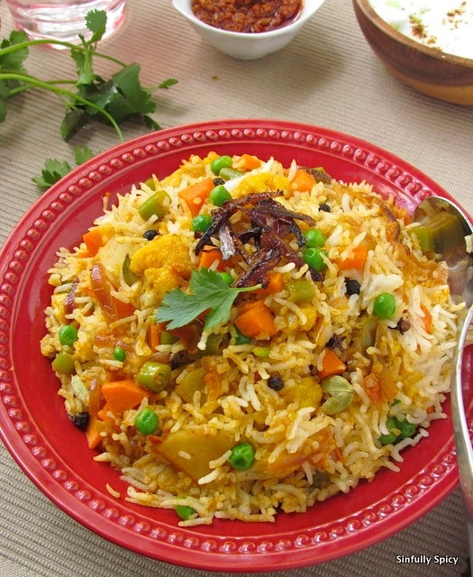 Vegetable Biryani | Sinfully Spicy | Main Dishes | Pinterest