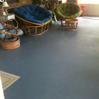 Concrete Patio Floor Painted Backyard Pinterest