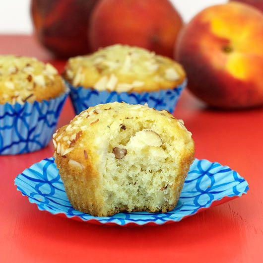Almond Peach Muffins | Foodie Alert - Breakfast | Pinterest