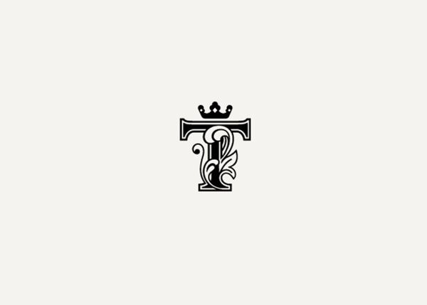 beautiful #monogram #logo with #crown