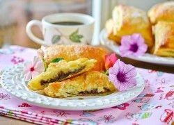 Nutella Banana Croissants | desserts (ruin your diet time) | Pinterest