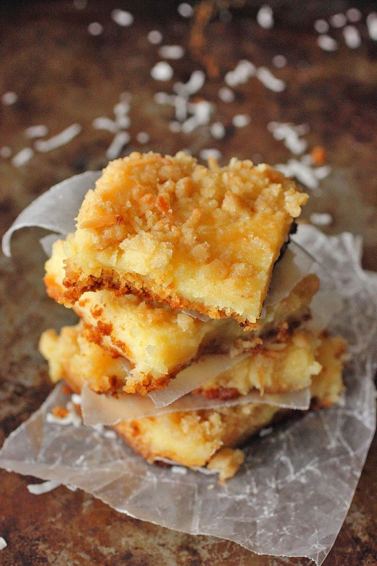 Lemon Coconut Oeey Gooey Bars | Food | Pinterest