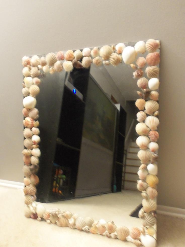 Seashell Mirror Craft And Dyi Ideas Pinterest