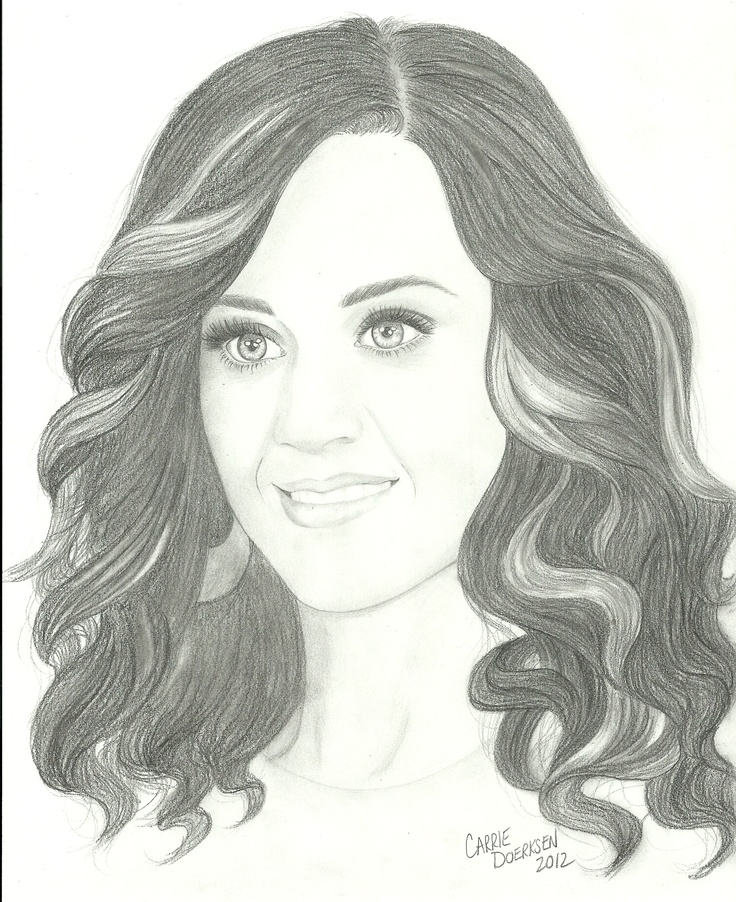 How to draw katy perry step by step easy