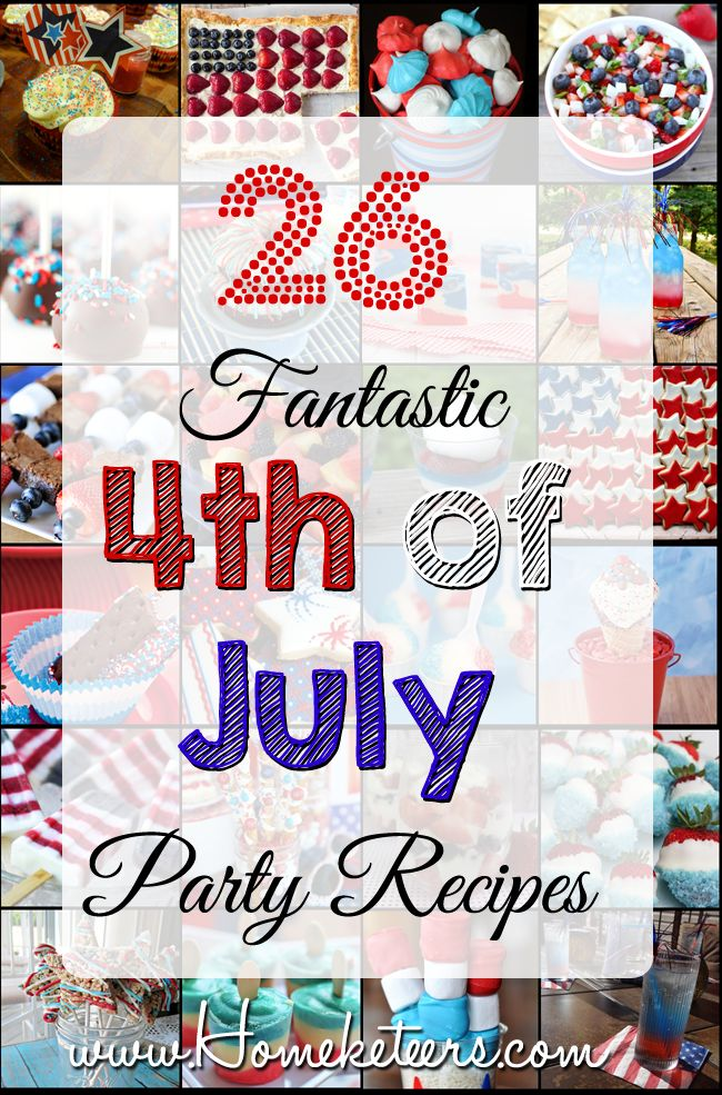 july 4th party menu