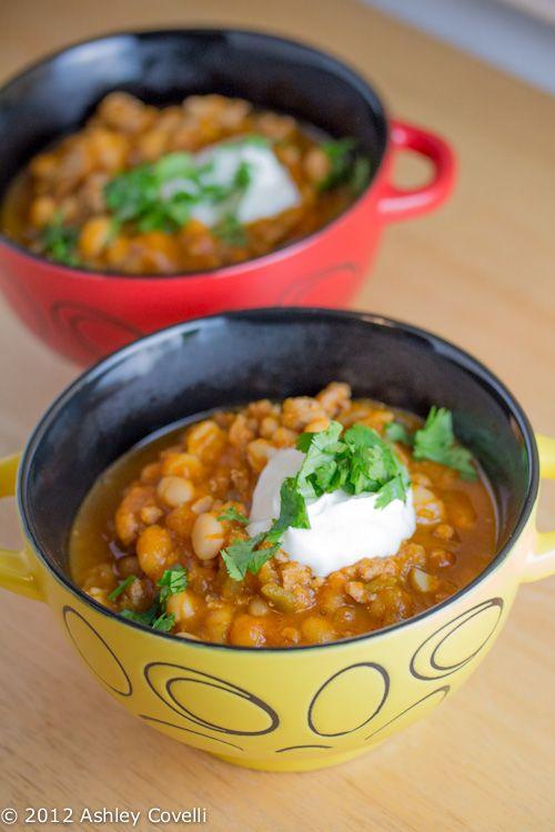 ... Flavors From A Tiny Kitchen: Crock Pot Turkey White Bean Pumpkin Chili