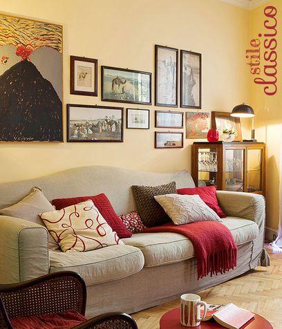 Salotto Rosso E Grigio ~ Idee per il design della casa