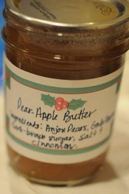 Pear-apple butter | Pantry | Pinterest