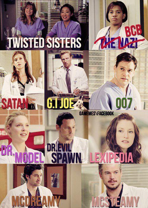 nicknames | Grey's Anatomy. | Pinterest: pinterest.com/pin/203999058094283043