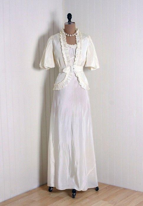 1930s wedding dress my style pinterest for 1930s inspired wedding dresses