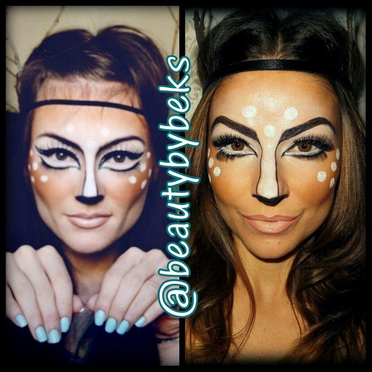 Deer Halloween Makeup Like. halloween makeup.