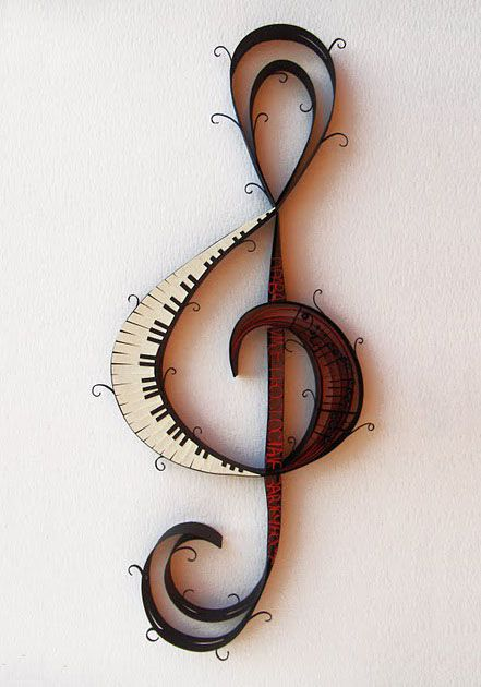 via tumblr  --this looks like quilling...--  love it.