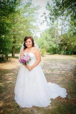 Melissa Sweet Metallic Embroidered Ball Gown with Satin Waist Style MS251004 #davidsbridal #weddingdress #realweddings