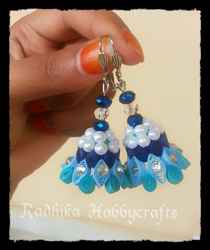 Hobby Crafts :): Quilled Jhumkas | DIY Paper | Pinterest