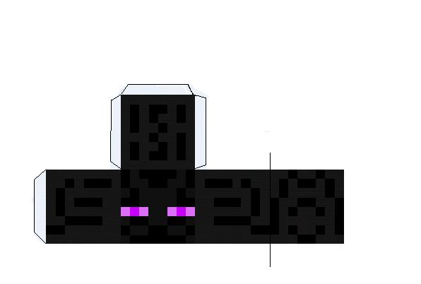 Enderman Face Template