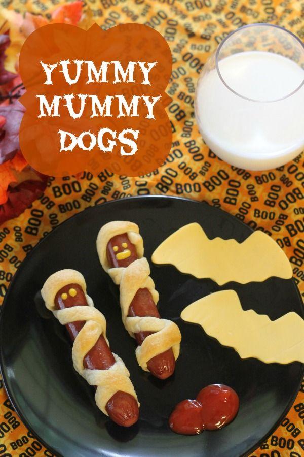 halloween snacks mummy hotdogs | Foodie | Pinterest