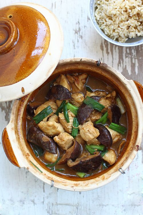 Clay Pot Chicken with Mushroom Recipe | Easy Asian Recipes http ...