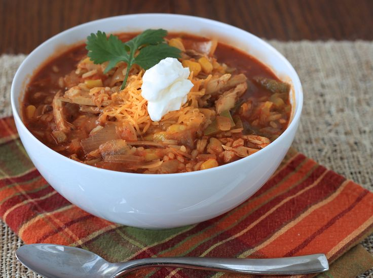 tex-mex chicken and rice soup #soup #fall #comfortfood