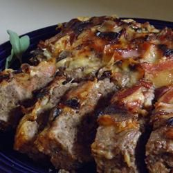 Bacon Wrapped Mushroom Meatloaf Allrecipes.com.....ground beef or ...