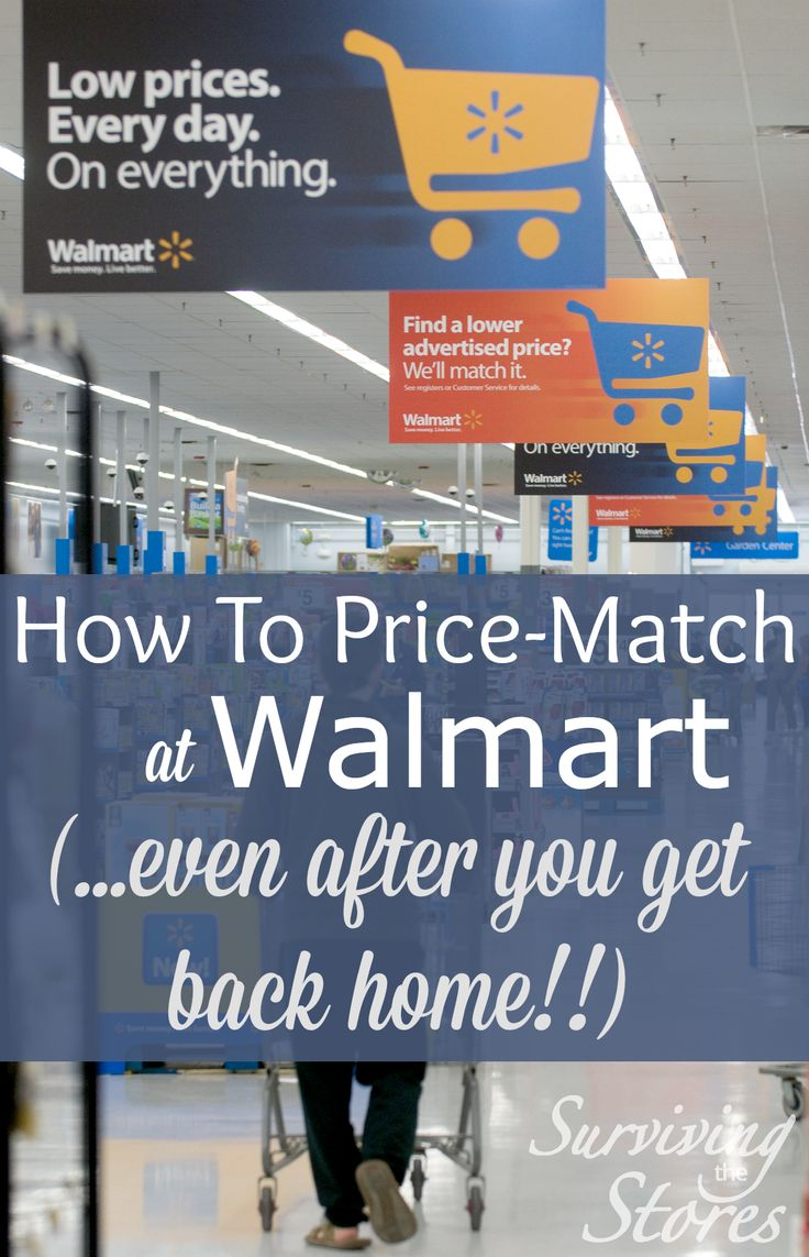 Find out how to price match at walmart even after you get back home