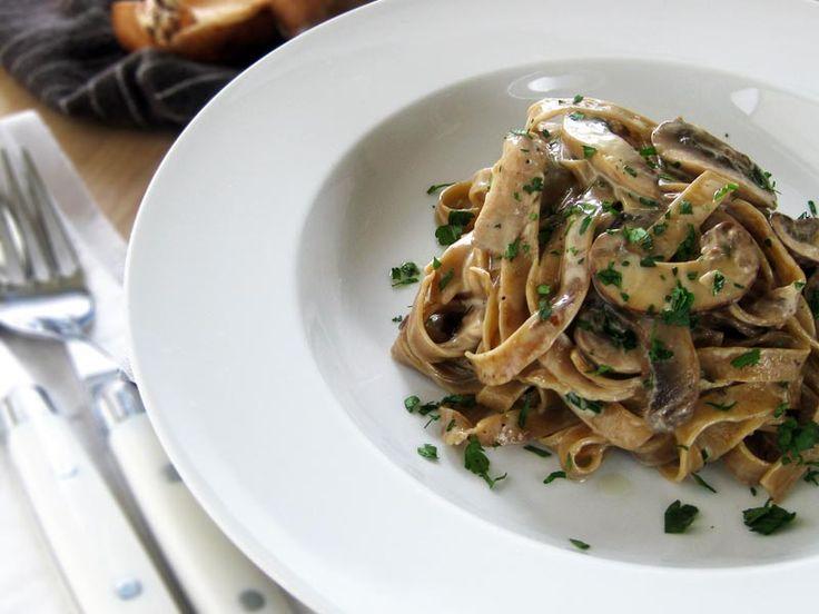 Homemade Porcini Fettuccini with Creamy Wild Mushroom Sauce recipe ...
