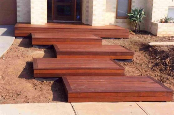 Decking ideas by features in timber garden inspiration for Garden decking features