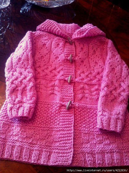 Страна мам вязание пальто для девочки 74