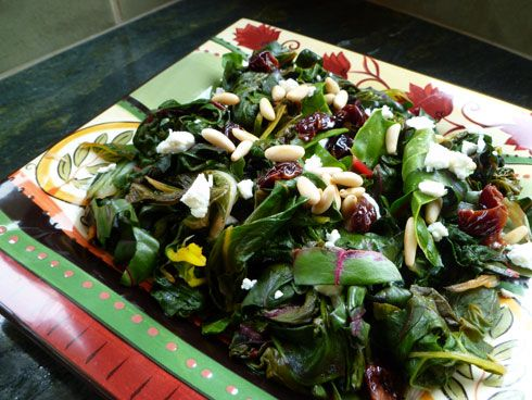 Provencal Daydreams: A Sautéed #Chard with Pine Nuts, Goat Cheese and ...