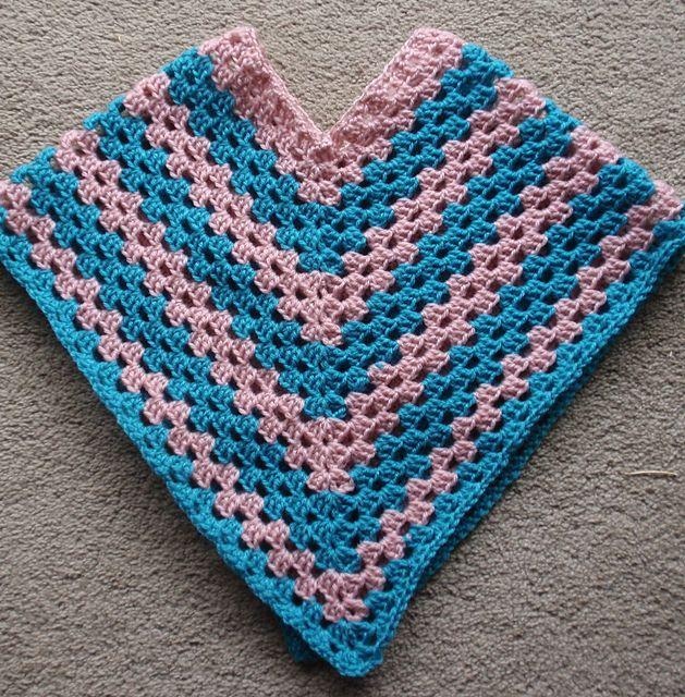 Ravelry: Poncho pattern by Sucrette crochet Pinterest