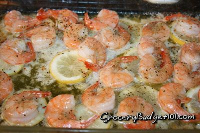 Roasted Lemon Garlic & Herb Shrimp | Dirt Cheap Recipes | Pinterest