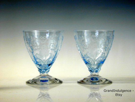 Fostoria Versailles Blue - Fruit Cocktail - Oyster Glass - Set of 2 ...