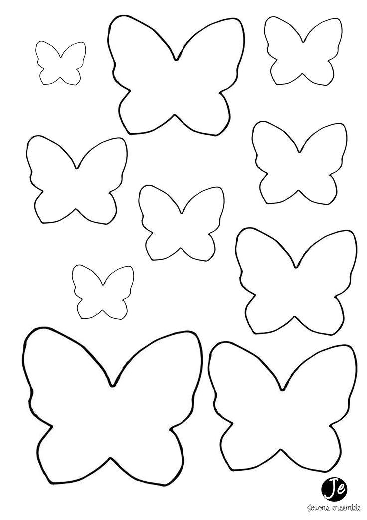 Шаблон бабочки из фетра своими руками 90