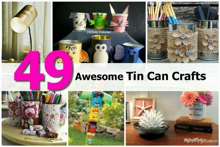 Tin can crafts crafts and sewing pinterest for Large tin can crafts