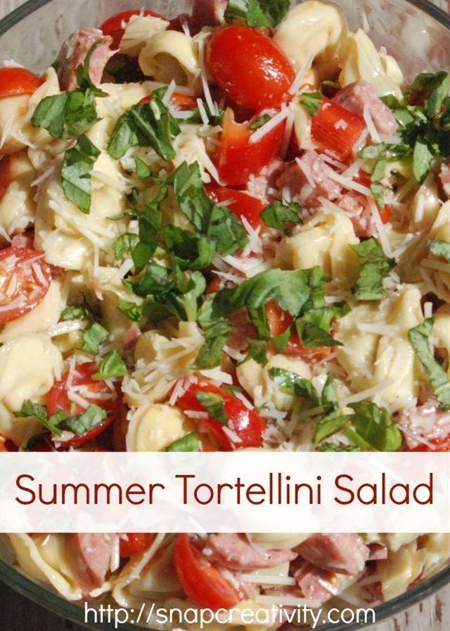 Summer Tortellini Salad Recipe | Good recipes | Pinterest