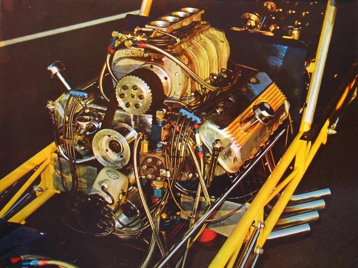 vintage car engines