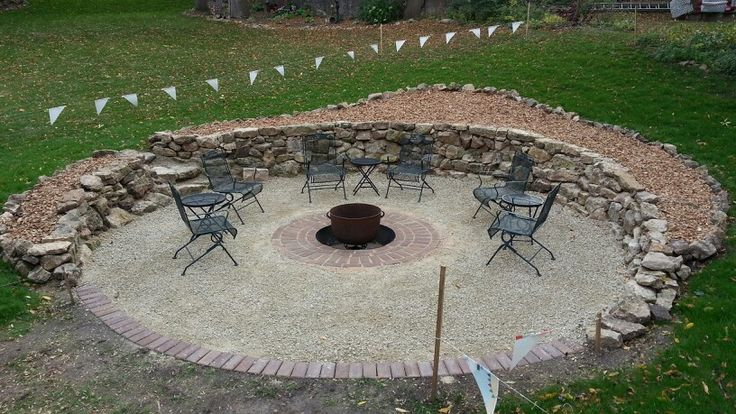 Pin by shannon rausch on fire pit ideas pinterest for Gravel around fire pit