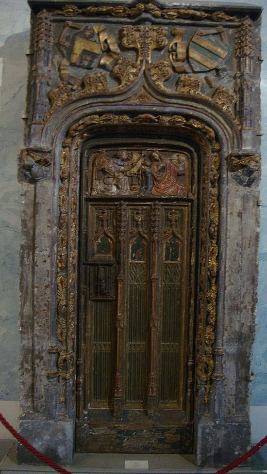 A very old fretwork door at the Hermitage Musuem in St. Petersburg - Russia.